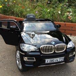Электромобиль BMW X6 (колеса резина, кресло кожа, пульт, музыка, глянцевая покраска)