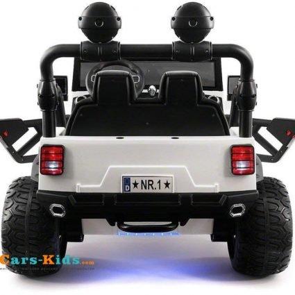 Электромобиль Jeep Wrangler White 2WD - SX1718-S (кресло кожа, колеса резина, пульт, музыка)